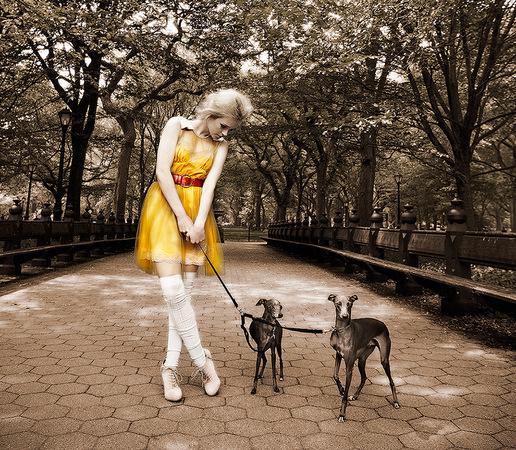 Fashion: Anna Sophie in Central Park, NYC